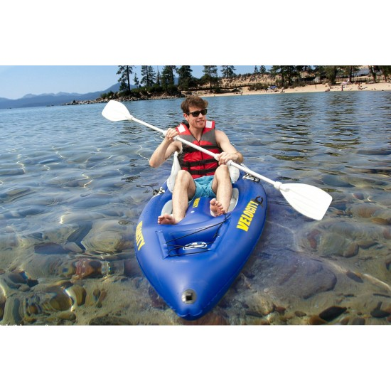 Aqua Marina Kayak - VELOCITY Sit-on-top Kayak (PVC material) paddle included